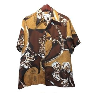 Tori Richard Shirts - Tori Richard Brown Beige Hawaiian Shirt Size L